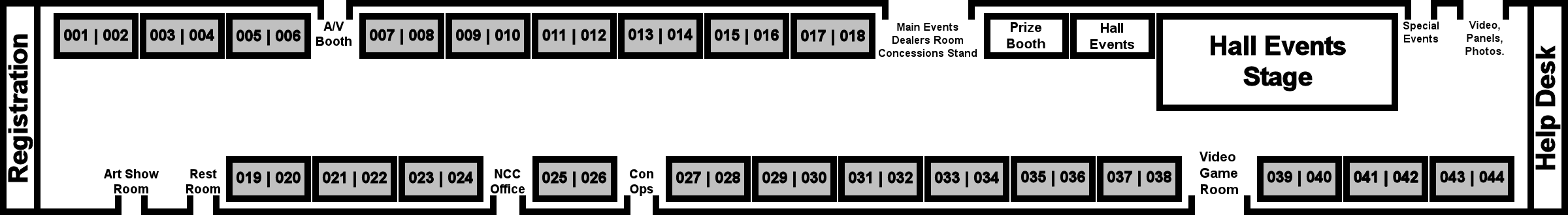 Fandemonium Artist Alley Layout Map